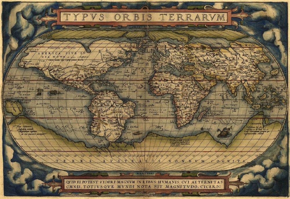 Атлас Абрахама Ортелия (Abraham Ortelius) 1570 года
