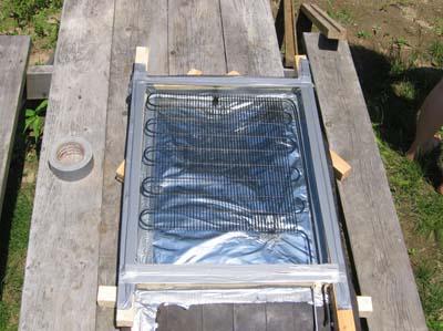 Солнечный коллектор из холодильника.