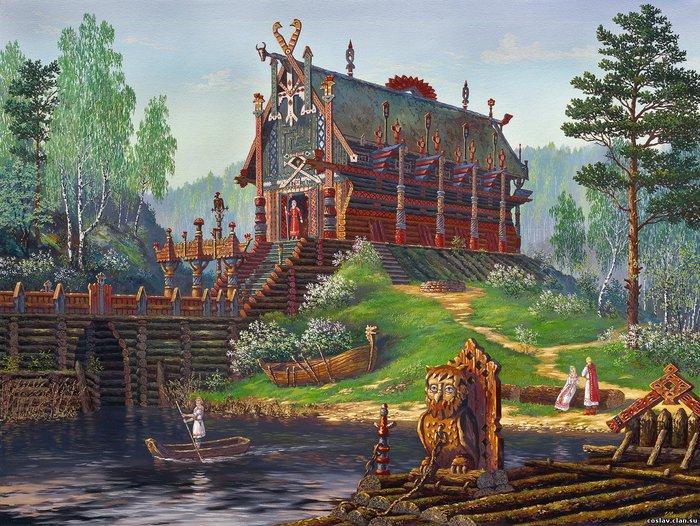 На Руси, до принятия христианства, в каждом населённом