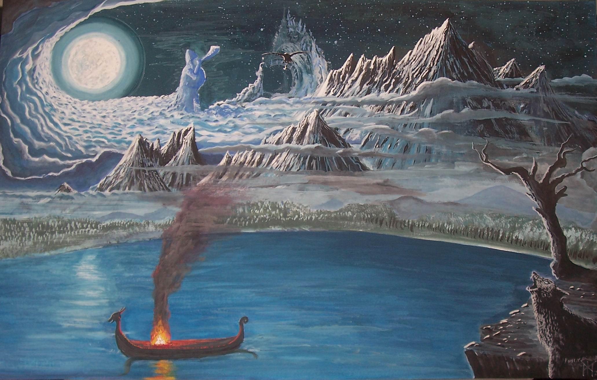 В древнейшие времена Мидгард-Земля находилась на пересечении