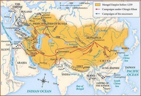 Тартария. Монгольская Империя - Земли Тарха и Тары.