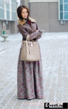 Как носить юбку в зимний сезон.