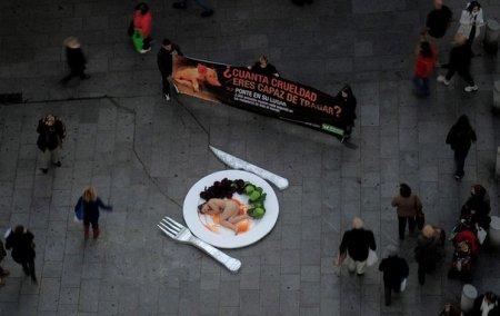Акция-перформанс в Барселоне.
