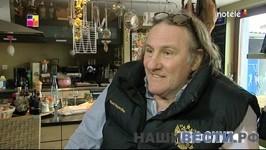 » Депардье дал интервью в жилетке с российским гербом: