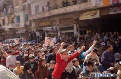 » Жители Алеппо приняли участие в массовом марше в