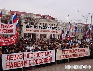 «Русский блок», митинг в Николаеве