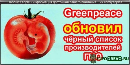 Greenpeace обновил черный список.