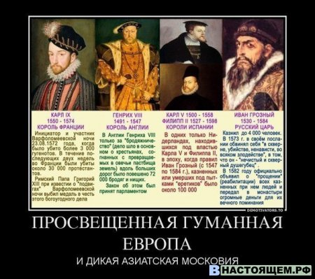Просвещенная Европа и дикая Россия.