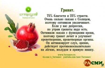 Влияние плодов на организм.