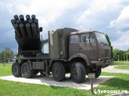 """Наше оружие. Полевая реактивная система залпового огня M-87 """"Orkan""""."""