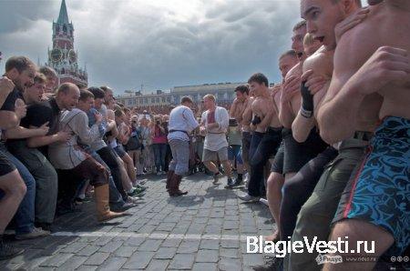 На Красной площади состоялись стеношные бои.