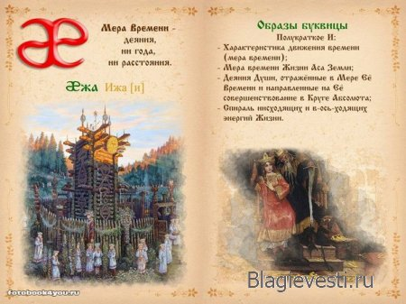 Азбука - Печатная диссертация - Современная равно Древнеславянская Буквица.