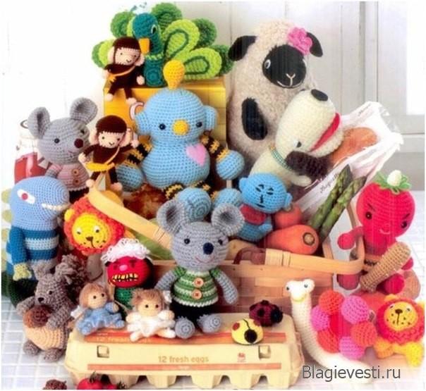Вязание игрушек спицами и