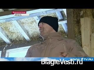 Житель Воронежа всего за два месяца построил себе дом из соломы.